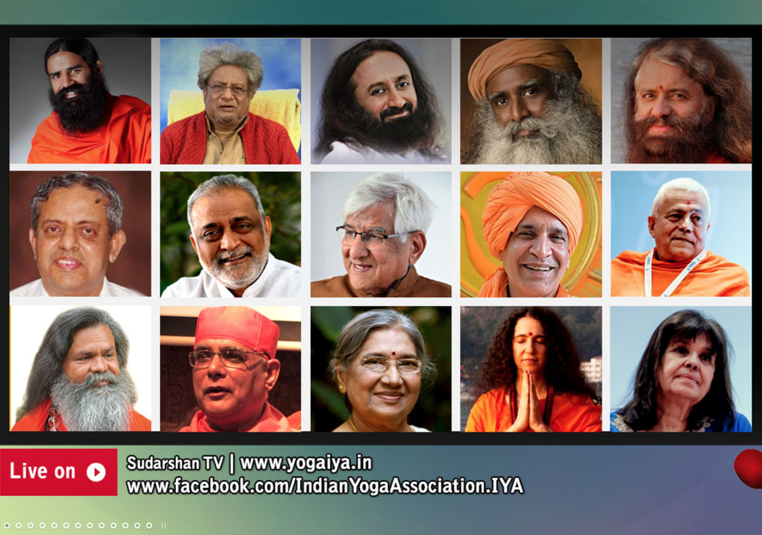 Preghiera universale dei Guru dello yoga collegati on line per la salute nel mondo e del mondo